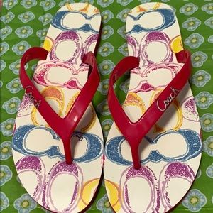 Coach brand flip flops size 8